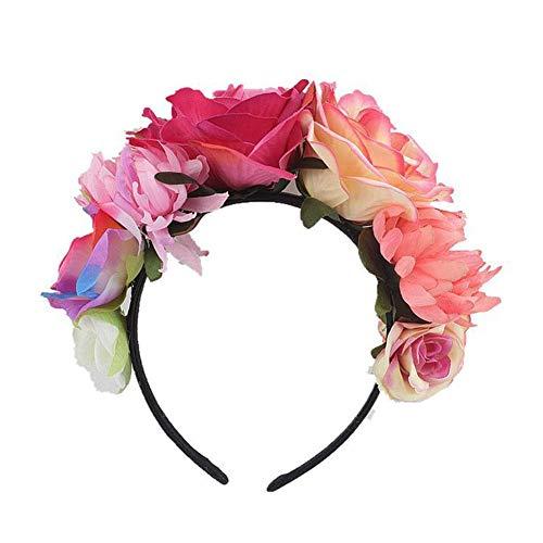 Bloemenkroon, kostuum, roos, bloemen, Mexicaanse kroon, decoratie, hoed voor vrouwen, kunststof, afgestorven, haarband, garland, kostuum, rozen, bloem, slinger voor meisjes, bruid, vakantie, Kerstmis