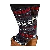 Sipaya Damen Leggings, gebürstet, Weihnachtsmotiv, knöchellang, Saison Bedruckt, Größe S-3XL - Mehrfarbig - XX-Large