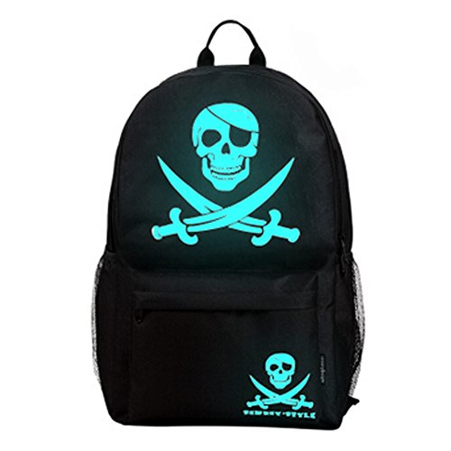 Mode Noctilucent/Voyage scolaire Sac à dos/épaules élèves Sac,Pirate