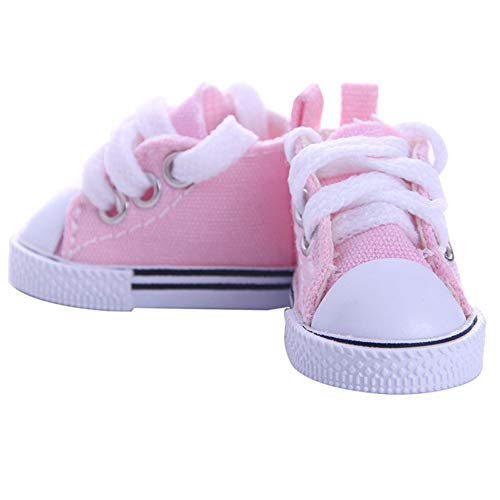 ACHICOO Lustiges Spielzeug, 5CM Mode Denim Leinwand Mini Spielzeug Schuhe 1/6 Schuhe für 18 Zoll Puppenzubehör B833 Kinder, Freunde