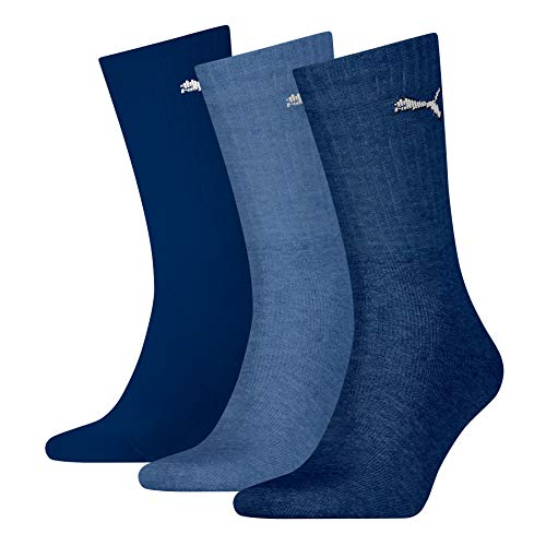 PUMA Sport Crew Lightweight Socks (3 Pack) Calcetines, Navy, 43/46 Unisex Adulto