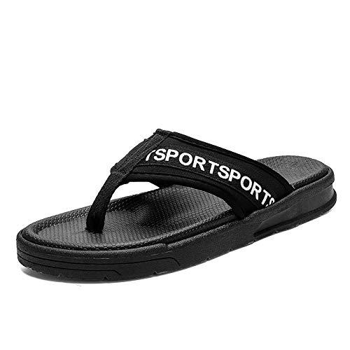 Chanclas y sandalias de piscina,Uso En Interiores Uso Al Aire Libre Baño Sandalia,Chanclas de verano, sandalias de playa para hombres casuales, camuflaje grueso de zapatillas de abajo-negro_43