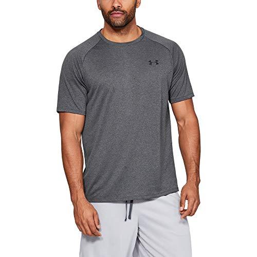 Under Armour Tech 2.0 Shortsleeve, T-Shirt Homme, Carbon Heather / Black , M