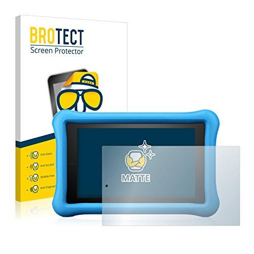 BROTECT 2X Entspiegelungs-Schutzfolie kompatibel mit Amazon Fire 7 Kids Edition 2017 Bildschirmschutz-Folie Matt, Anti-Reflex, Anti-Fingerprint