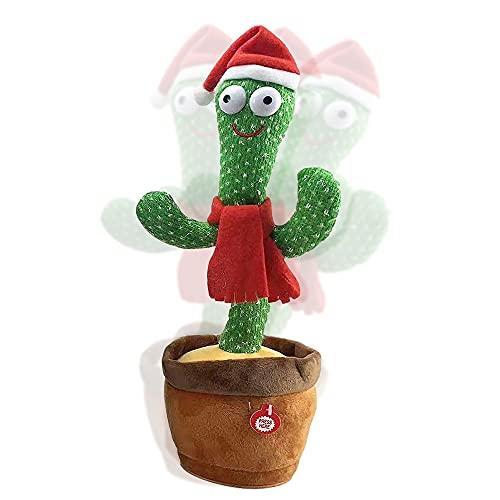 Jooheli Cactus che Balla, Cactus Peluche Dancing Giocattoli, Dancing Cactus Toy, 30cm Dancing Cactus Peluche Giocattoli, Giocattoli Cactus Ballerini Shake per Bambino Precoce (Babbo Natale)