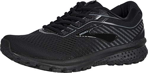 Brooks Herren Ghost 12 Laufschuhe, Black Grey, 45.5 EU