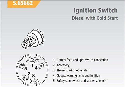 Amazon.com : Ford Tractor Ignition Key Switch w/ Pre-Heat - fits most  1965-up Diesel with Cold Start : Garden & Outdoor | Ford Tractor Ignition Wiring |  | Amazon.com
