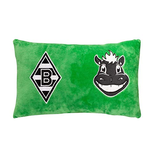 Borussia Mönchengladbach Plüschkissen Jünter grün