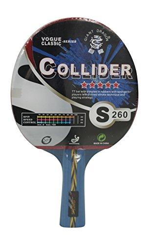 Kounga Table Tennis Racket Giant Dragon Collider - 5 Stars Tischtennisschläger, rot/schwarz, Einheitsgröße