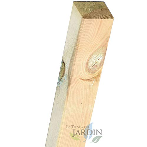 POSTES de MADERA 9x9 cm para JARDIN, para cercar un jardín, parque. (300 cm)