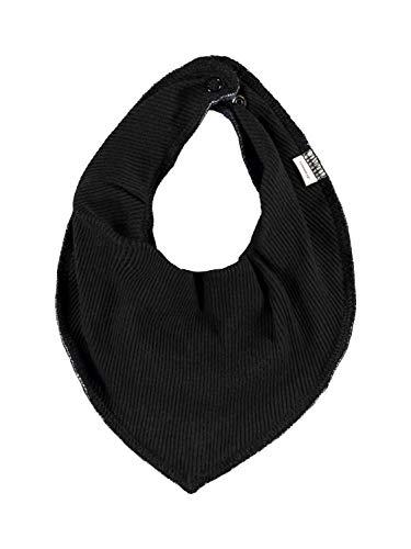 NAME IT Halstuch Baby Dreieckstuch UNI in Rippoptik 3-lagig Organic Cotton (Black/Schwarz)
