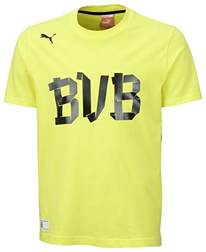 PUMA Herren BVB Fan Tee, (Gelb/Schwarz), XL
