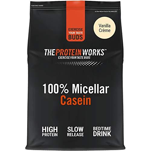 THE PROTEIN WORKS 100% Micellar Casein Protein Powder | Slow Release Protein Shake | Amino Acids | High Protein | Vanilla Crème | 500 g
