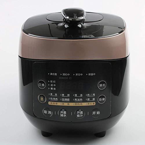Cuisinière à pression électrique, multifonction 5 L autocuiseur électrique, cuisinière à riz Petit déjeuner Machines intelligentes, 10 Menu, réservation 24h / 24 220V 1125 SLONGS