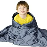 WONAP Cooling Weighted Blanket | 100% Natural Bamboo with Premium Glass Beads | 15 lbs | 48'x72' Twin Size | for Adult and Kids | Heavy Blanket | Folkstone Grey