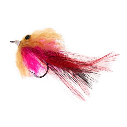 D DOLITY 1 Stück Forelle Stahlkopf Streamer Fliegenfischen Fliegt Hecht Lachsforelle Fischköder Rosa