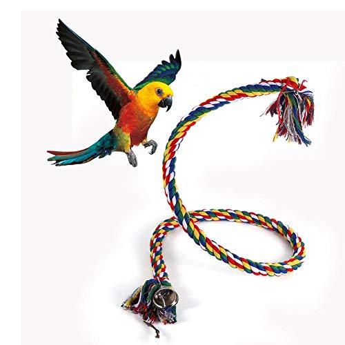 鳥 とまり木 オウムロープ インコ ロープパーチ 鳥用おもちゃ ケージ スタンド ブランコ 遊園地 ゆらゆら 鳥栖 遊びおもちゃ 鳥遊び場 ストレス解消