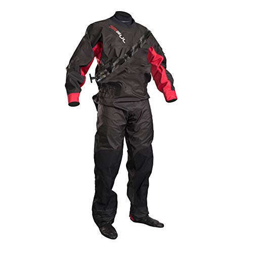GUL 2018 Dartmouth Eclip Zip Drysuit Black/RED GM0378-B5 with Free Undersuit Size - - Medium