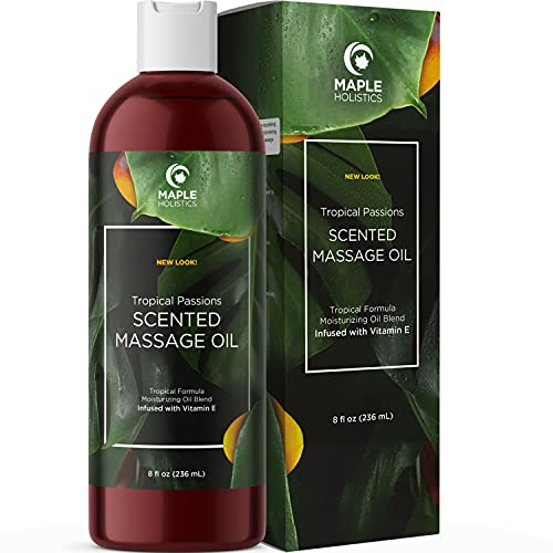 Natural Massage Oil for Massage Therapy - Sensual Massage Oil for Couples - Moisturizing Body Oil Massage - Coconut Oil and Vitamin E Oil for Skin Nourish and Hydrate for Anti Aging Benefits