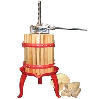 Weston Fruit and Wine Press (05-0101), 16 Quart Capacity with Pressing Blocks, Heavy Duty
