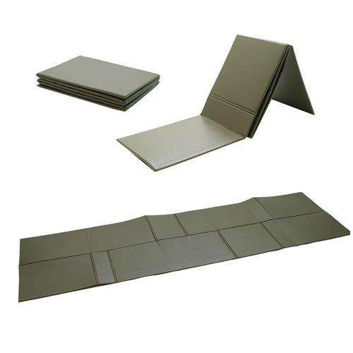 g8ds® BW Isomatte faltbar 190 x 60 x 0,5 cm Oliv Sitzunterlage extrem klein faltbar