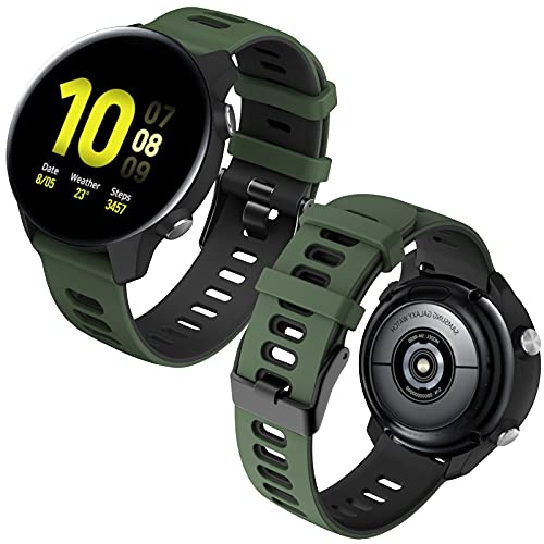 Th-some Correa Compatible con Samsung Galaxy Watch Active/Active2 40mm 44mm/Galaxy Watch3 41mm/Galaxy 42mm, Banda Repuesto 20mm Silicona Pulsera para Gear Sport/Gear S2 Classic/Gear S2 Frontier