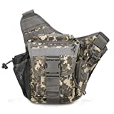 Klau Sport Outdoor Military Women and Men's Multi-functional Tactical Messenger Shoulder Bag with Patch for Hunting Hiking Cycling Camping