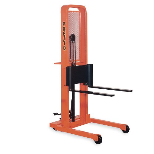 Check Out This Presto Foot-Operated Stackers - Adjustable 3Wx25L Forks - 5-1/4 Lowered Height, 66...