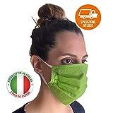 20 Pezzi Màscherina Made In Italy Lavabile Lavabili Riutilizzabile Fatta In Italia Antipolvere Idrorepellente Idrorepellenti
