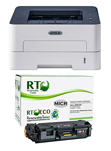 Renewable Toner B210DNI MICR Check Printer Bundle with 1 Xerox 106R04346 MICR Starter Toner Cartridge (2 Items)