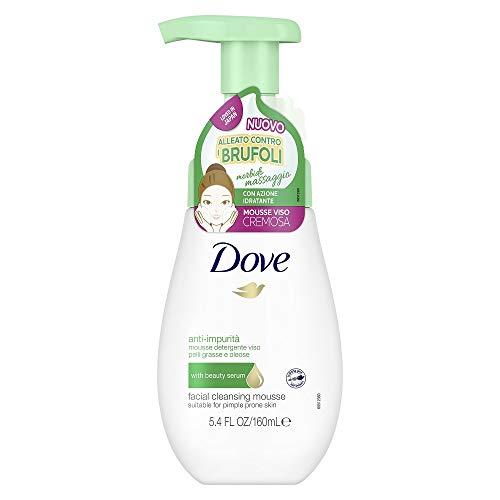 Dove Mousse Detergente Viso Anti-Impurità, per Pelli Grasse e Oleose, 160 ml