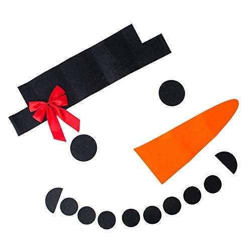 Sue-Supply Kerst Poort DIY Sneeuwman Decoratie, DIY voelde Kerstmis Sneeuwman Set Garage Deur Voor Buiten Kerstversiering