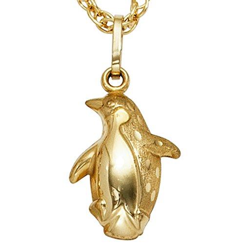 Anhänger 333/-G Pinguin Anhänger Pinguin gold goldener Pinguin Anhänger