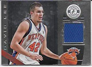 David Lee 2013-14 Panini Totally Certified Materials Silver New York Knicks Jersey Insert Card #159