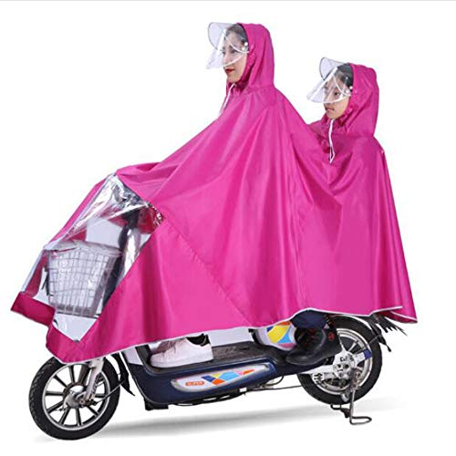GLJY Poncho Divertido Doble para la Madre y el niño, Bicicleta eléctrica,...