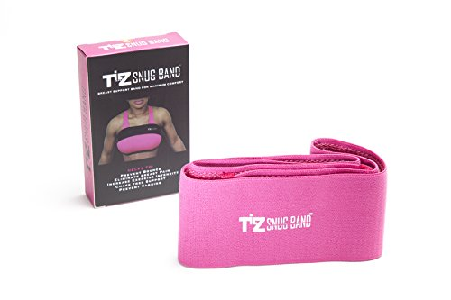 TILZ GEAR SNUGBAND Incredible breast support band to protect active women from boob bounce breast pain and breast sagging (Pink, Small)