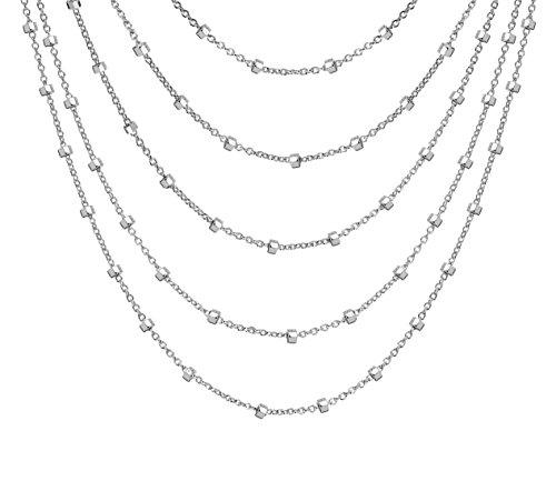 Tuscany Silver Collana da Donna in Argento Sterling 925, 38 cm