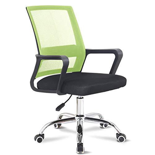 npcs Silla de videojuegos, silla de oficina, silla de ordenador para el hogar y la oficina, respaldo elegante y giratorio elegante para escritorio de ordenador (color: verde)