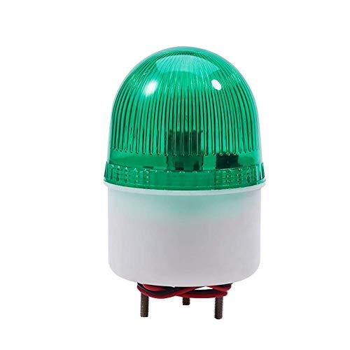 LTE-2071 DC 220V Lámpara de señal de destello verde Luz industrial brillante...