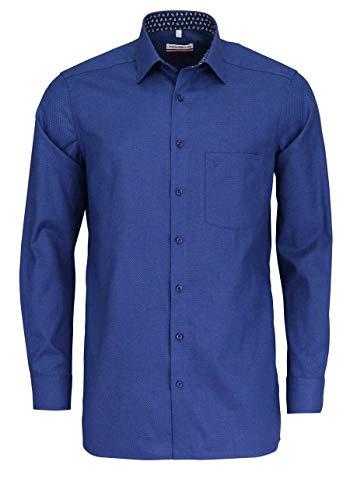 Marvelis Modern Fit Hemd Langarm New Kent Kragen Muster blau Größe 43