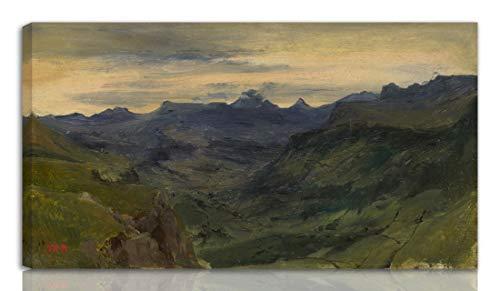 Berkin Arts Thedore Rousseau Estirado Giclee Imprimir en Lienzo-Pinturas Famosas Arte Fino Póster-Reproducción Decoración de Pared Listo para Colgar(El Valle de San Vicente)#NK