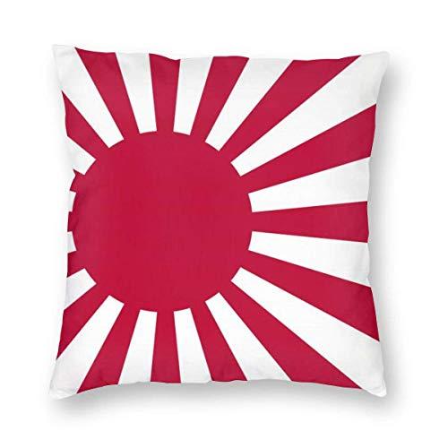 N\A Fundas de cojín para sofá Cama, Fundas de cojín cuadradas Decorativas de Varios tamaños - Bandera del Sol Naciente de la Marina de Guerra de Japón