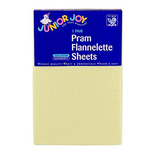 Junior Joy Pram Flanelle Sheet Citron Citron