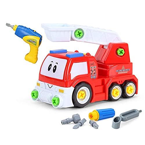 FYRMMD Take Apart Toys, juguete de tren de avión para niños pequeños que aprenden herramienta educativa ideal de construcción (coche de control remoto)