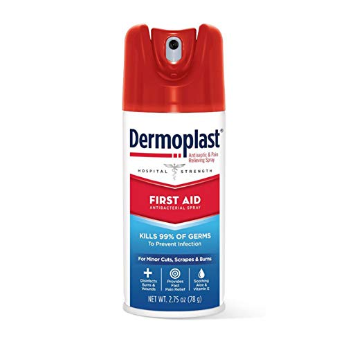 Dermoplast First Aid Spray Analgesic amp Antiseptic Spray for Minor Cuts Scrapes and Burns 275 oz 1 Pack