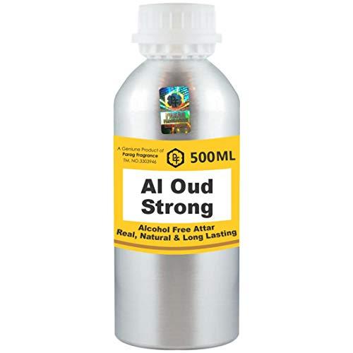 Parag Fragrances Al Oud Strong Attar 500 ml Attar (Sans alcool, Attar longue durée pour hommes - Femmes et usage religieux) Worlds Best Attar | Itra | Huile parfumée | Parfum