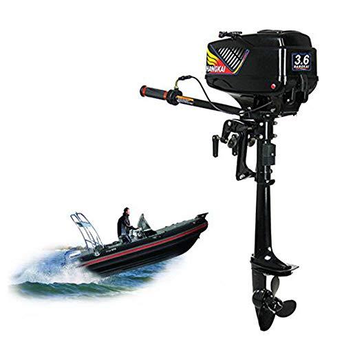 BTdahong 3.6HP Motor Fueraborda de Barco, 2 Tiempos Motor Fuera de Borda, 4000-5000 r/min Barco Motor Fuera de Marina por Agua Sistema CDI