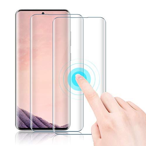 Agedate Lot de 2 films de protection d'écran en verre blindé pour Samsung Galaxy Note 10 Plus Couverture complète 3D Sans bulles Protection d'écran pour Samsung Galaxy Note 10+ avec aide à l'installation