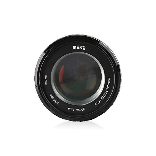 Meike 85mm F1.8 Manual Focus Auto Aperture Medium Telephoto Fixed Prime Portrait Lens for Sony E Mount Full Frame Mirrorless Cameras A9 A7III A7II A7, Support EXIF