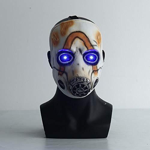 insp YK Borderlands 3 Psycho Mask Cosplay Game Props Villain Funny Mask Adult Mask Halloween Dress Up (Shining)